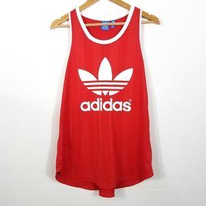 Adidas Red Trefoil Logo Tank Top Medium